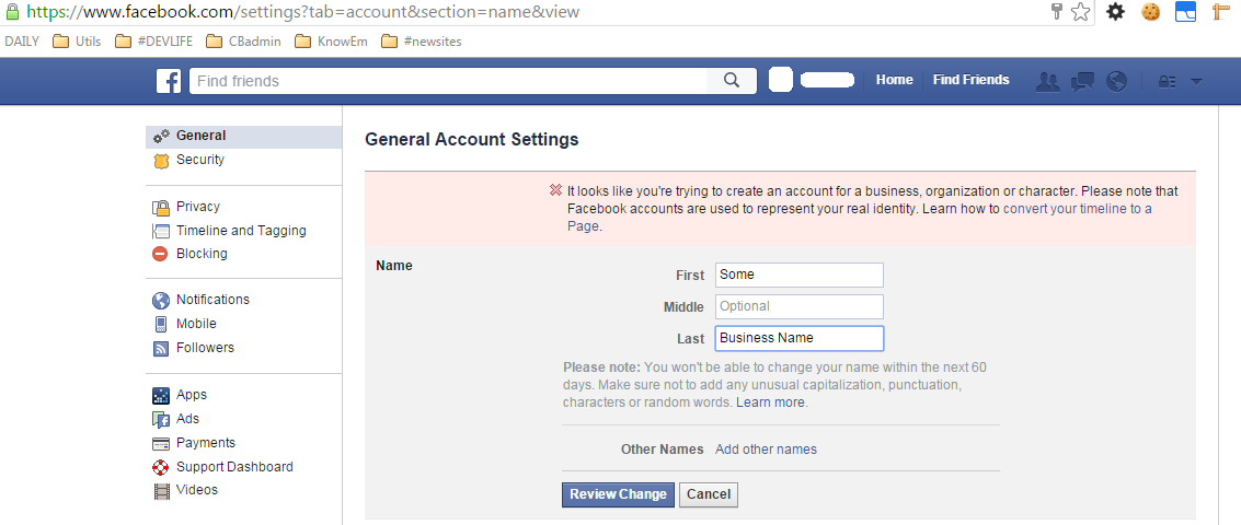 There Is No Facebook Account In My Order - KnowEm Help & Support