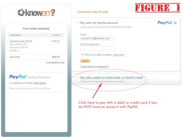 Pay KnowEm without PayPal - Figure 1