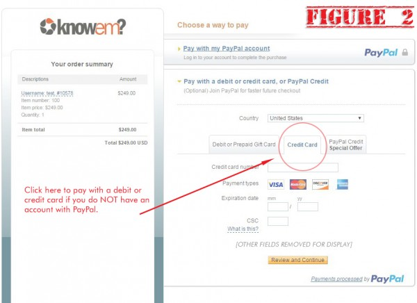 Pay KnowEm without PayPal - Figure 2
